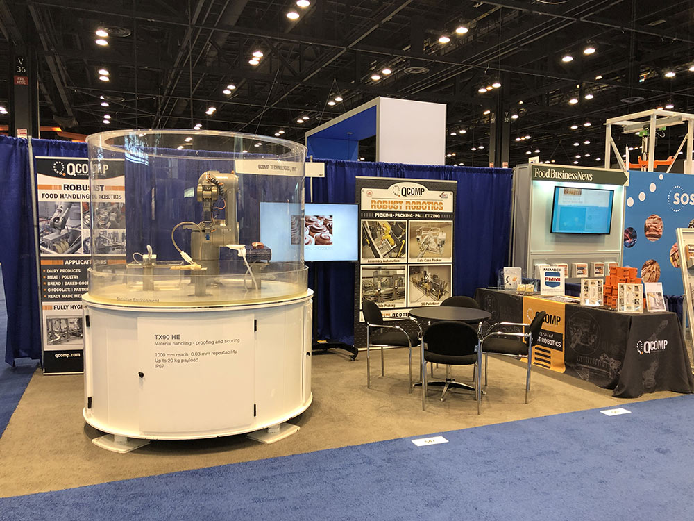 image of QComps booth at ProFood Tech Show