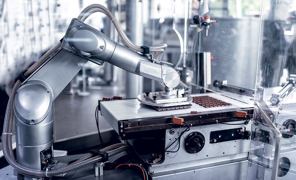 image of Staubli Food Packing robot packing chocolates