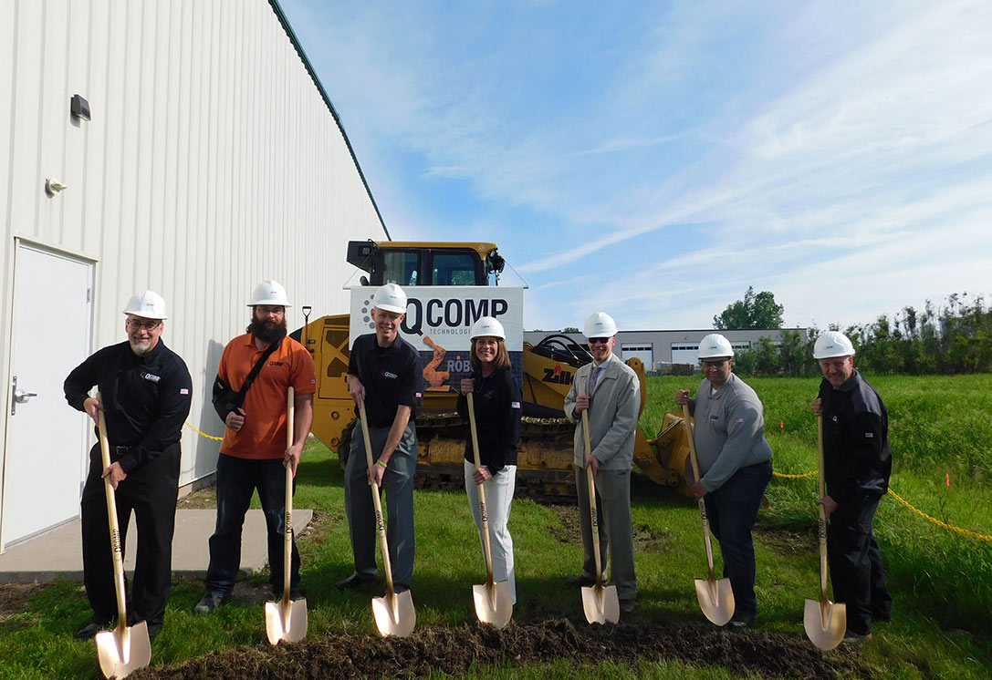 image of QComp groundbreaking ceremony